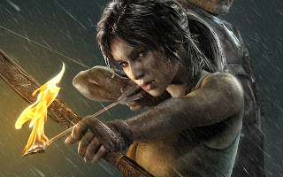Tom Raider Lara Croft Flaming Arrow HD Wallpaper