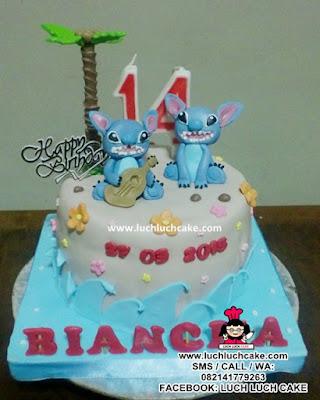 Kue Tart Lilo & Stitch Daerah Surabaya - Sidoarjo