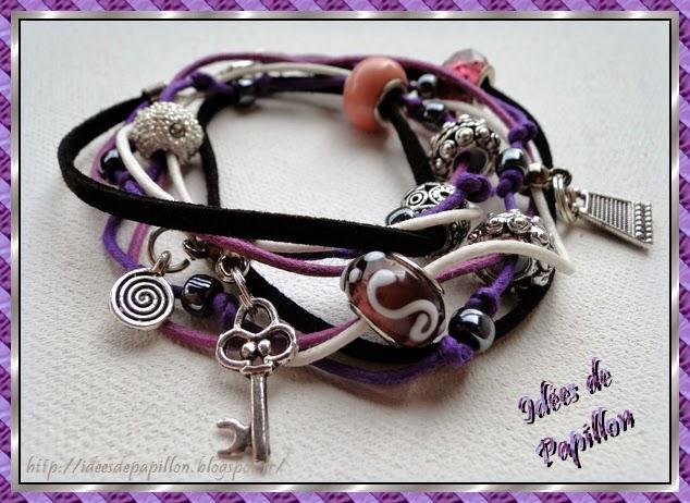 bracelet en perles pandora montés sur cordons
