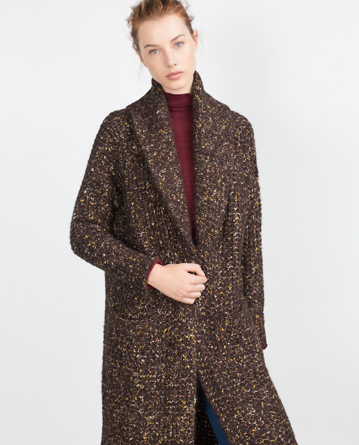 zara long cardigan, long brown cardigan,