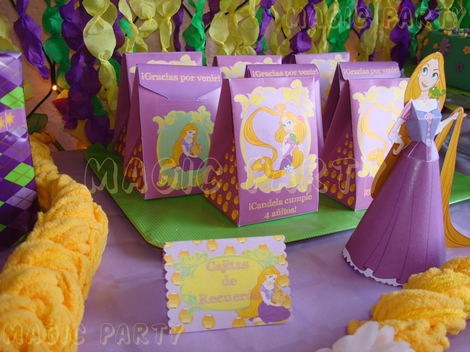 Decoracion Rapunzel Enredados ~ Cajitas de Recuerdo! Con una sorpresita en el interior para todos