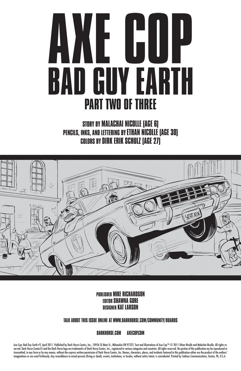 Read online Axe Cop: Bad Guy Earth comic -  Issue #2 - 2