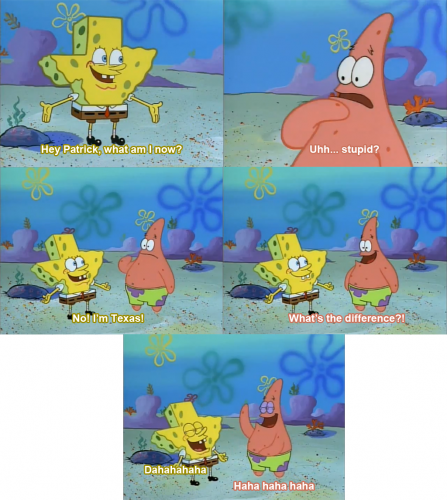 spongebob hey patrick what am i now funny pictures quotes
