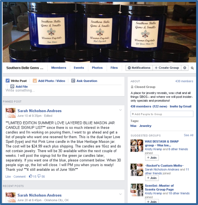 Southern Belle Gems and Smells Insiders Facebook Group