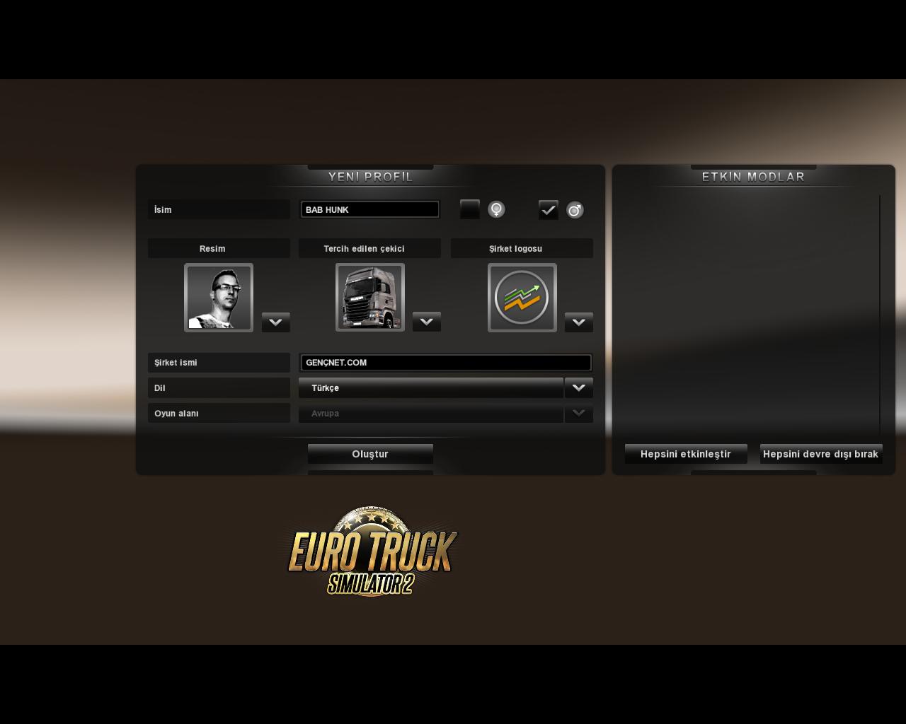 Euro Truck Simulatör 2 Türkçe v1.7.0 Full Tek Link İndir