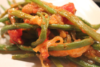 Greeked green beans