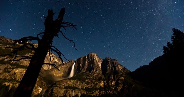 Luzes do parque Yosemite