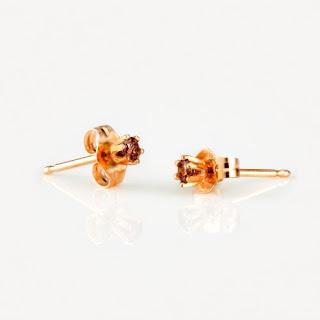 Satomi Kawakita Brown Diamond Studs | Style Me Whimsy