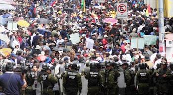 la COB empezará bloqueo de carreteras después de una semana de marchas en La Paz
