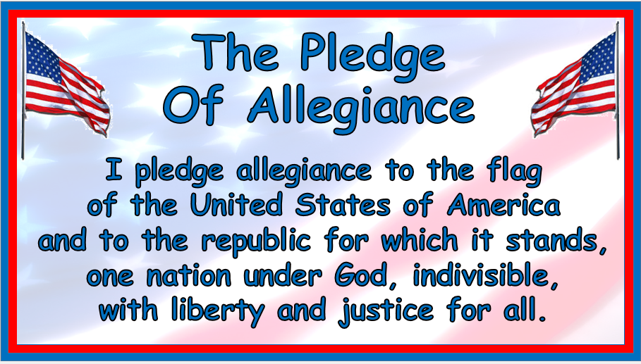 Universal image within pledge of allegiance printable