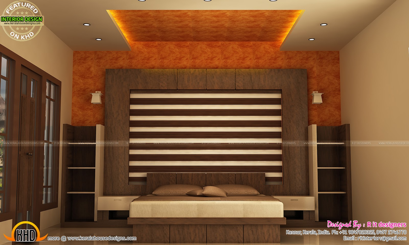 Modular kitchen bedroom teen bedroom and dining interior for Kerala interior designs