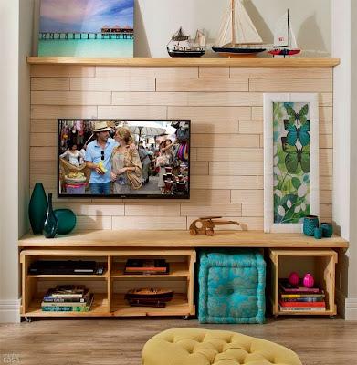 Rack com caixote de madeira