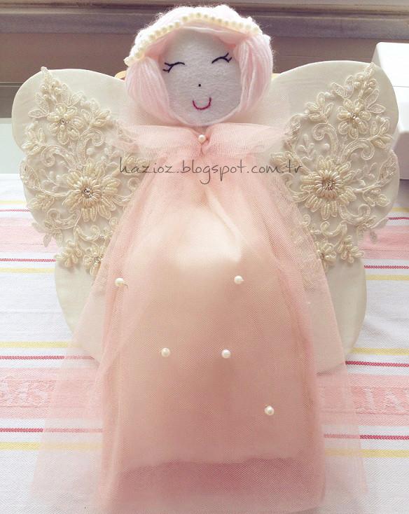 hastane kapı süsü melek kız bebek