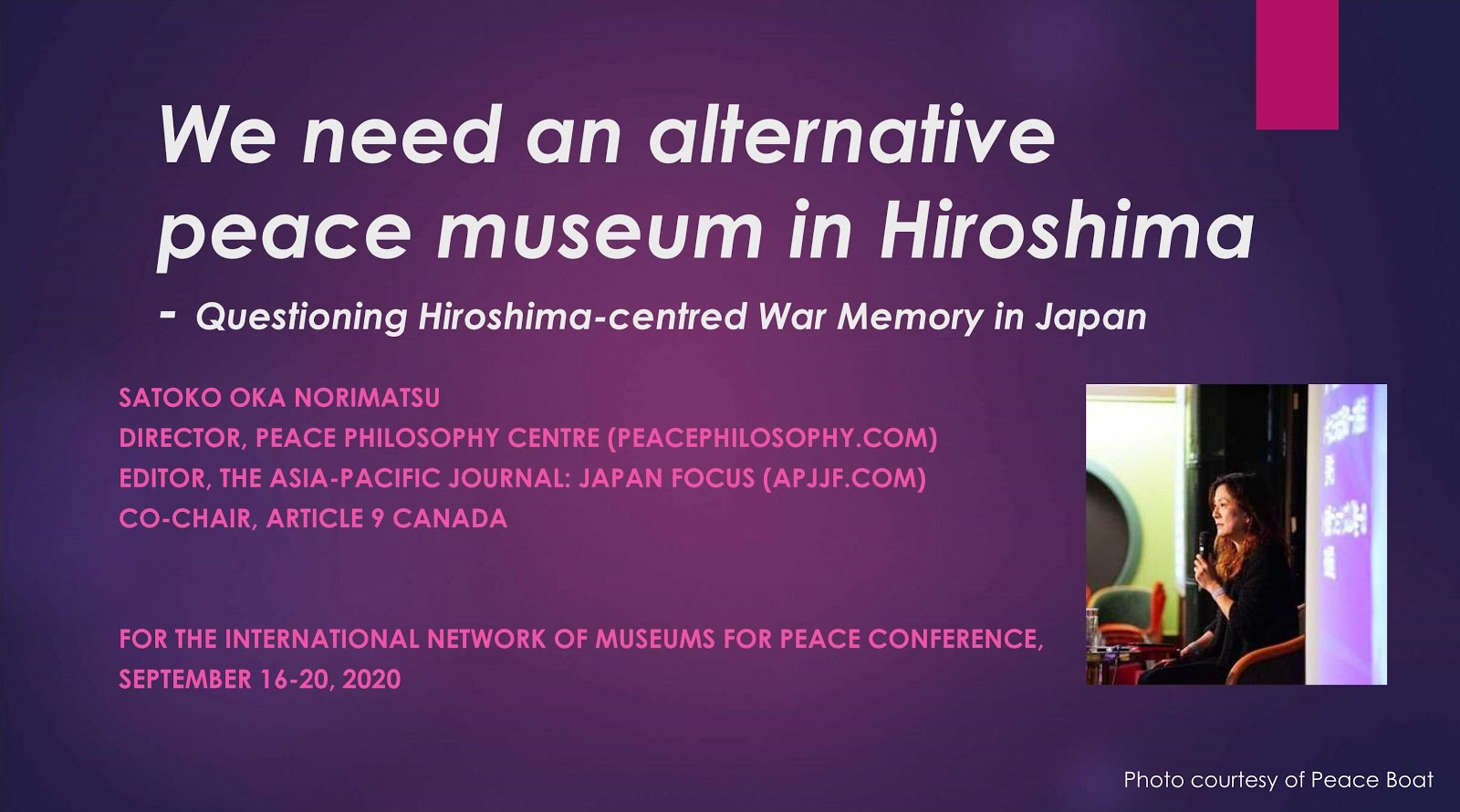 We need an alternative peace museum in Hiroshima