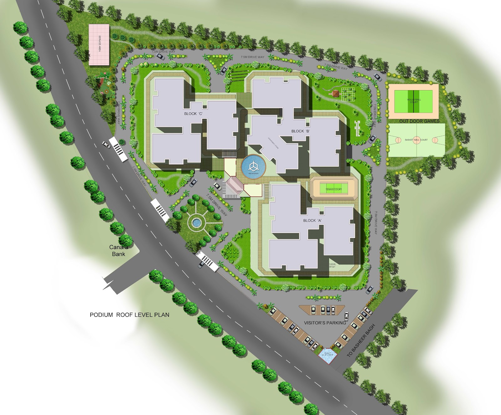 Omkara site plan for mla colony for Site plan design