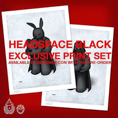 Designer Con 2015 Exclusive Headspace Black Print Set by Luke Chueh x Munky King