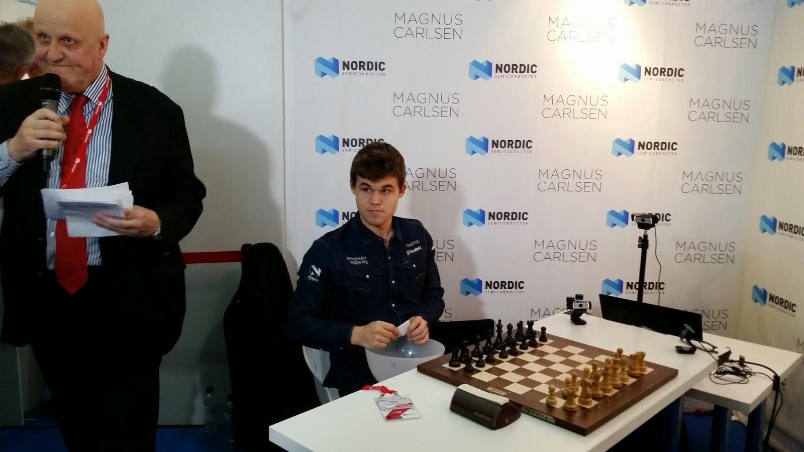 Magnus Carlsen en el Mobile World Congres 2015