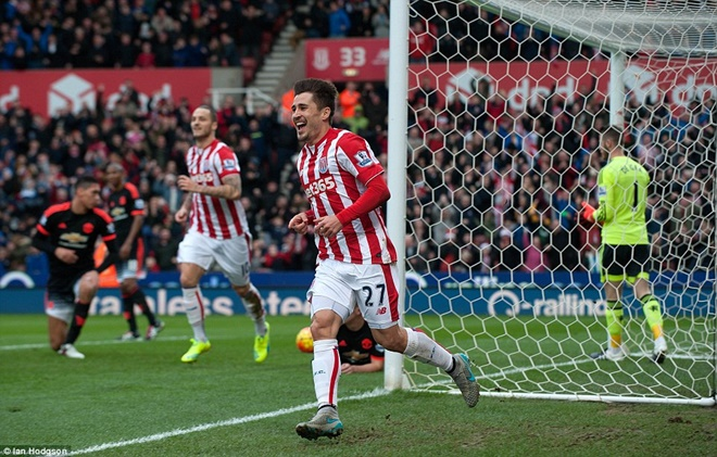 Stoke City 2 x 0 Manchester United - Premier League 2015/16