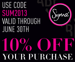 June 2013 Sigma Beauty Coupons