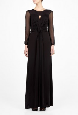 Chiffon Sleeve Maxi Dress