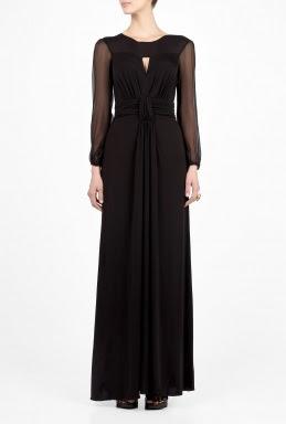 Chiffon Sleeve Maxi Dress