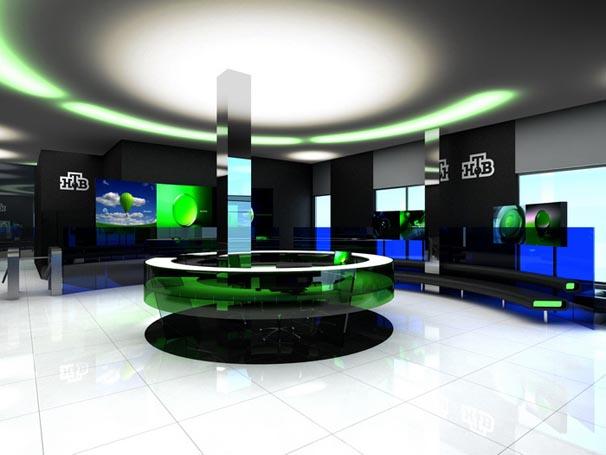 Office Reception Lighting Interior Design