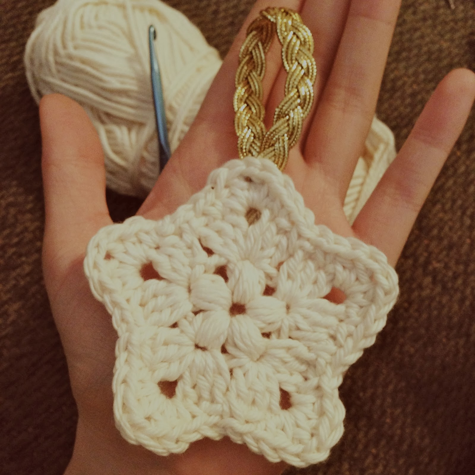 Handcrafted Vintage: Crochet Granny Star Ornament
