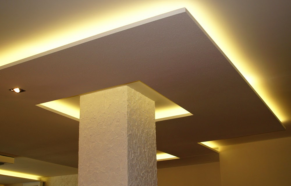 plasterboard false ceiling designs with ceiling lights for small