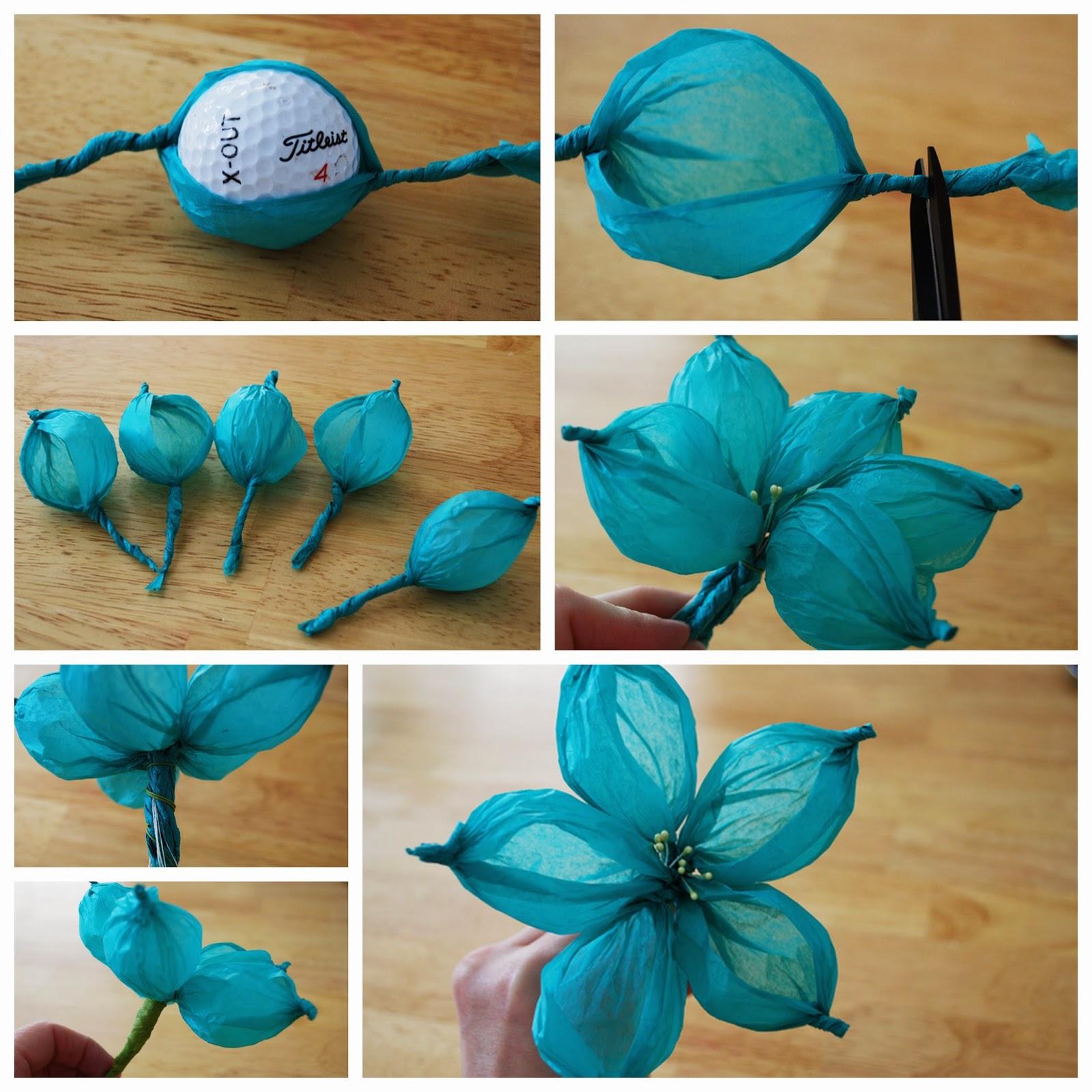 Manualidades con papel hermosa flor de seda un mundo - Manualidades en papel ...