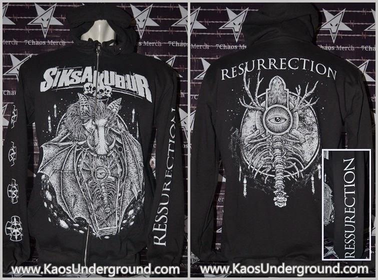 zipper jaket band siksa kubur deathmetal underground