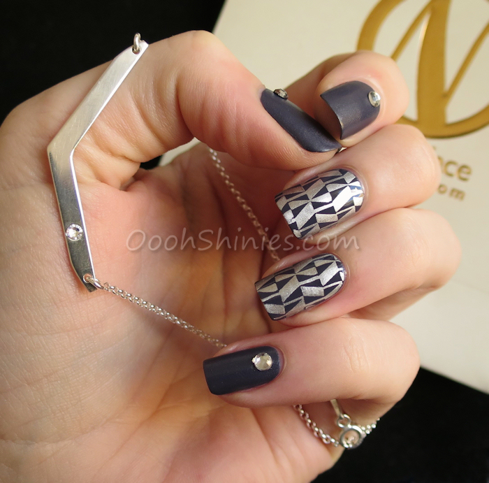 Catrice How I Matt Your Mother with China Glaze Millennium, Bundle Monster Polynesia BM-XL113 and Viva La Nails rhinestones, Onecklace sterling silver chevron birthstone necklace