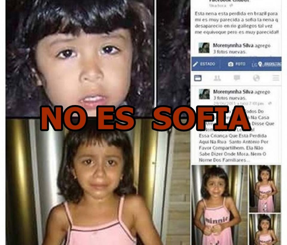 No es Sofia Herrera la nena de la foto
