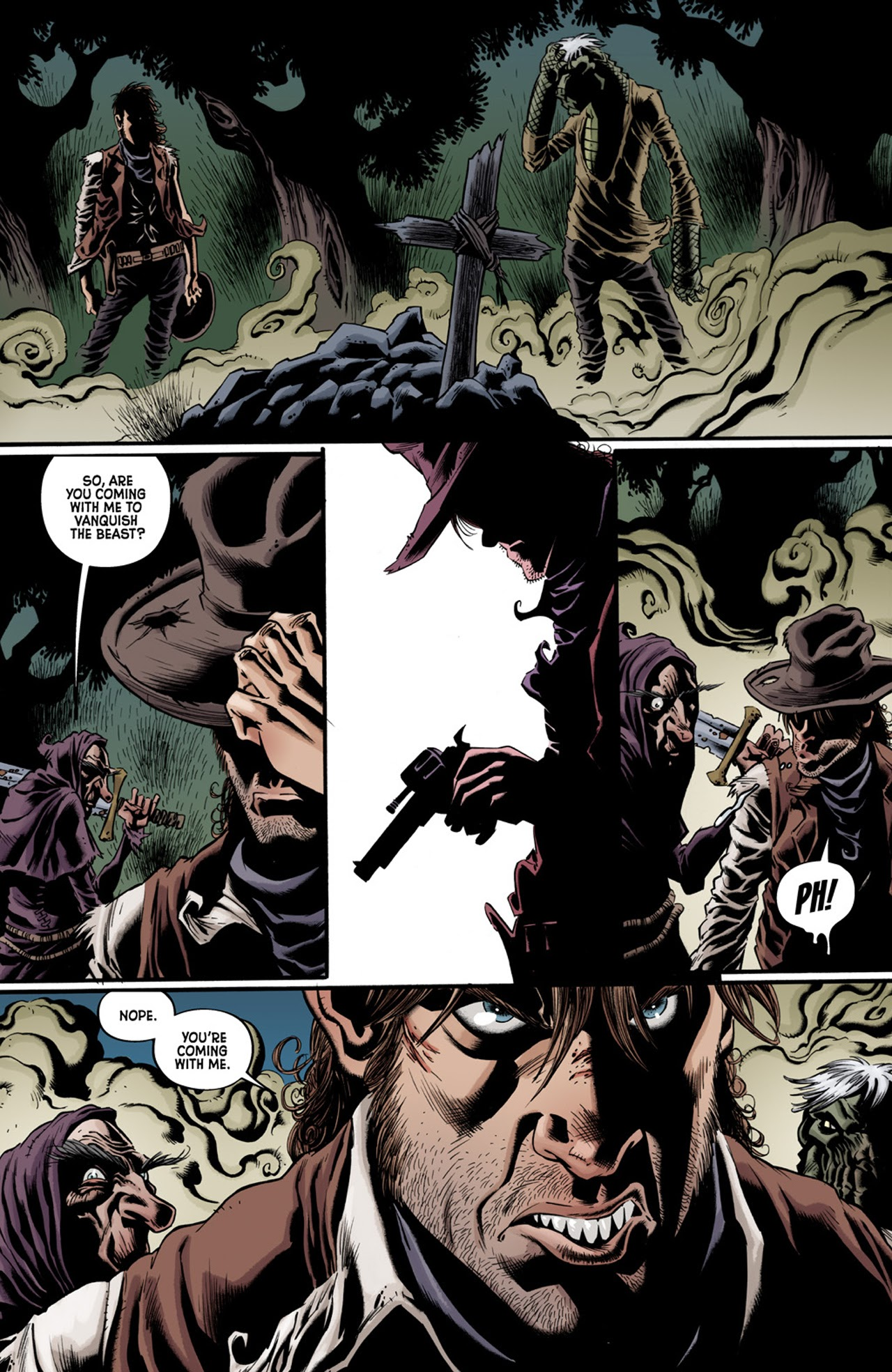 Read online Billy the Kid's Old Timey Oddities and the Orm of Loch Ness comic -  Issue #3 - 22