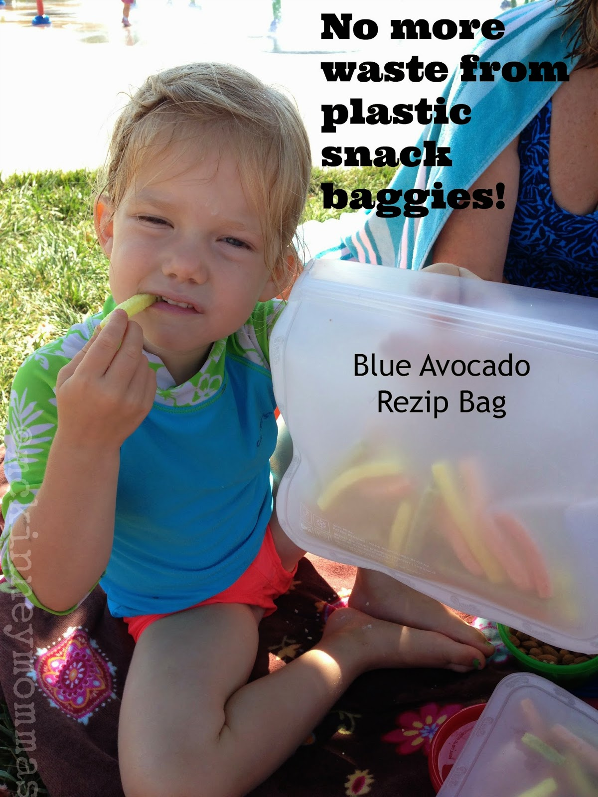 reusable snack bag, blue avocado, eco-friendly bag
