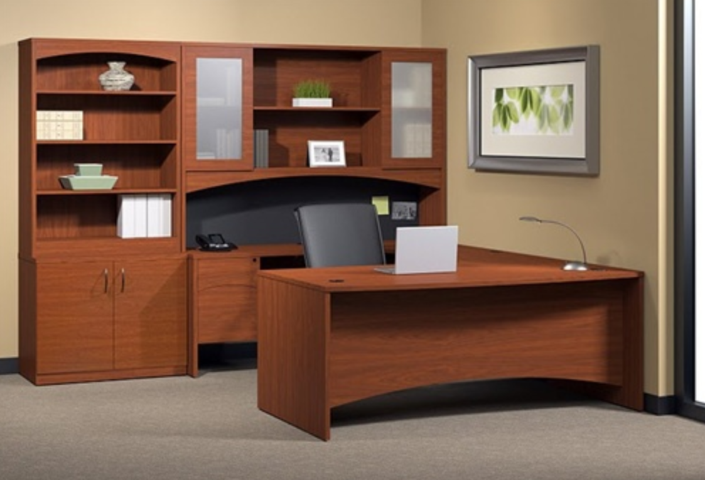Mayline Brighton Executive Desk BT7 with Modular Design
