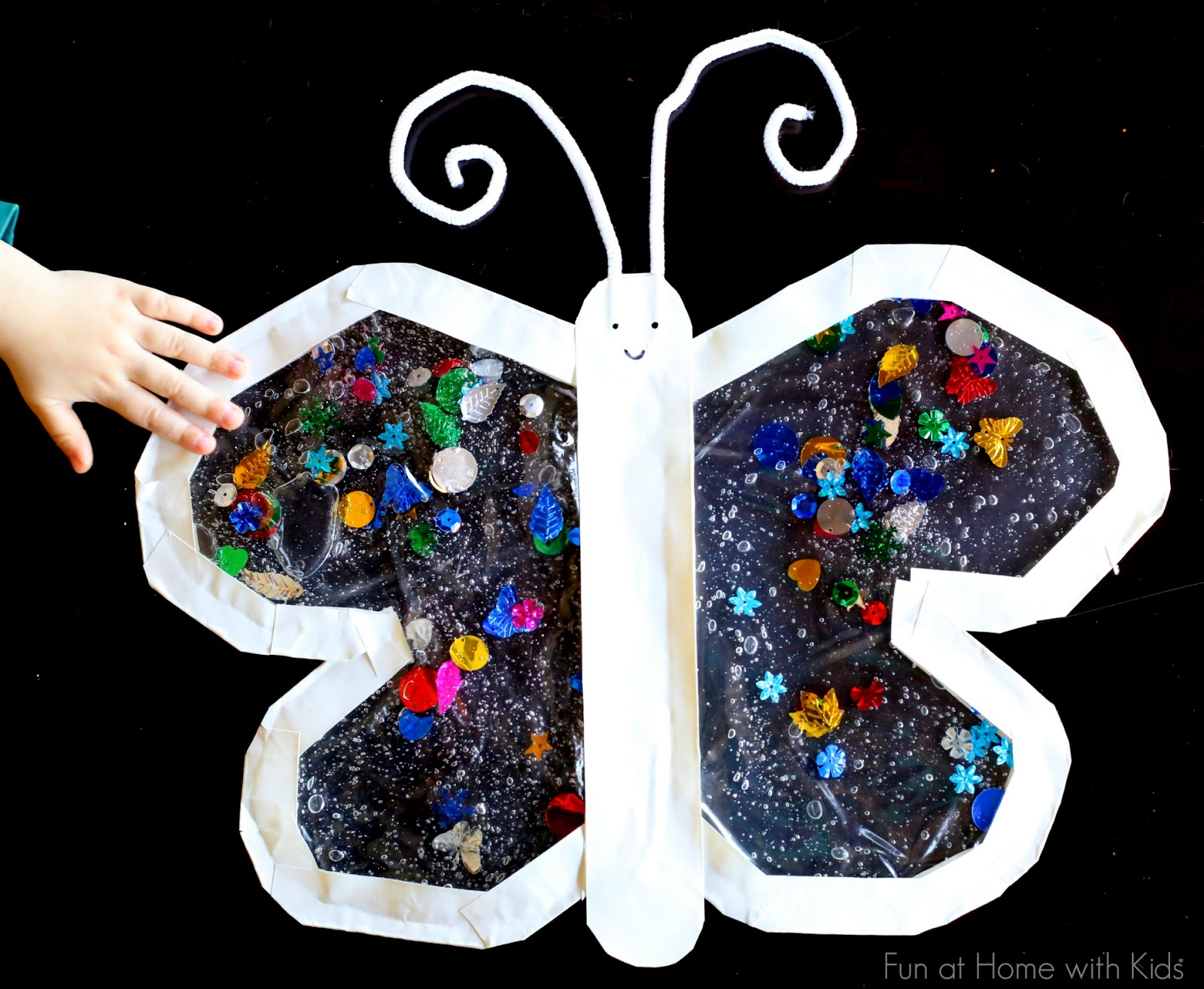 mess free sensory play butterfly for babies and toddlers