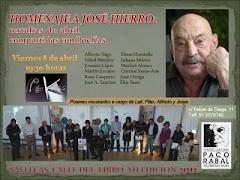 año 2011: Homenaje a José Hierro en Vallecas Calle del Libro