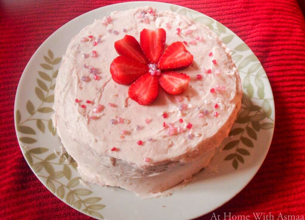 strawberry cake recipe | Halal Home Cooking
