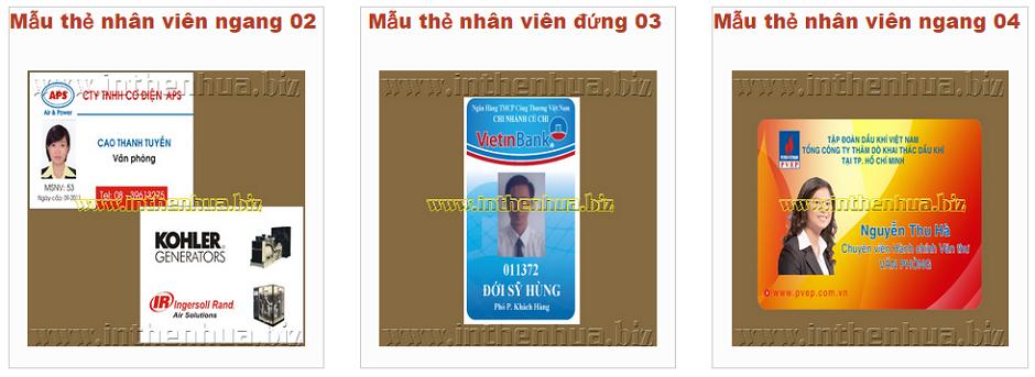 mau the nhua nhan vien duoc tin dung