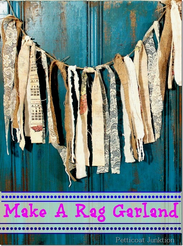 Make a rag garland - by Petticoat Junktion featured on I Love That Junk