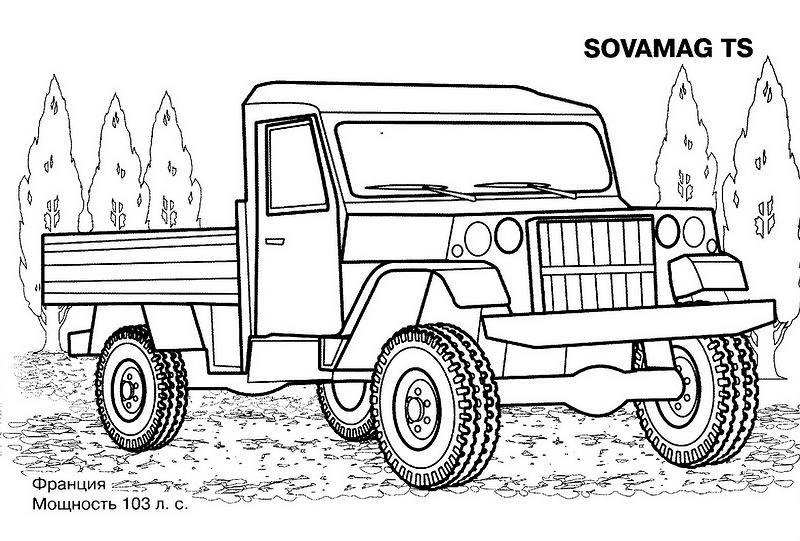 Раскраски для мальчиков военные машины - 5