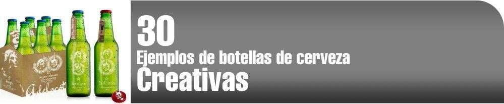 Botellas y empaques de cerveza creativas