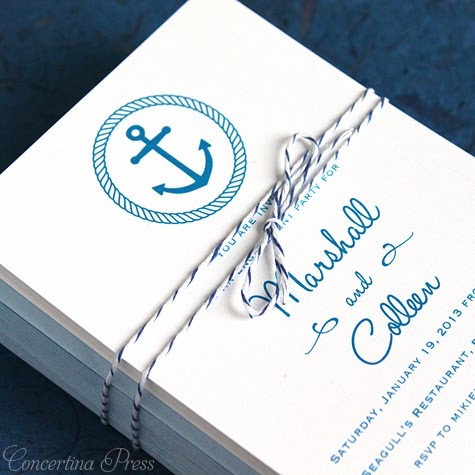 Anchor Engagement Party Invitation by Concertina Press