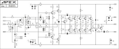 Schematic B500 APEX 500W Power Amplifier