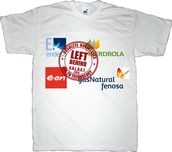 OBLBDT obsolete electric company useless energy politics corruption t-shirt ephemeral-t-shirts endesa iberdrola e-on gas natural fenosa