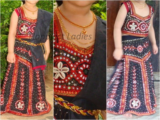girl wearing gujarati lehenga