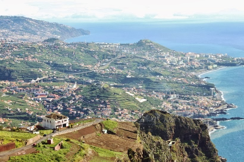 view of madeira from Cabo Girão
