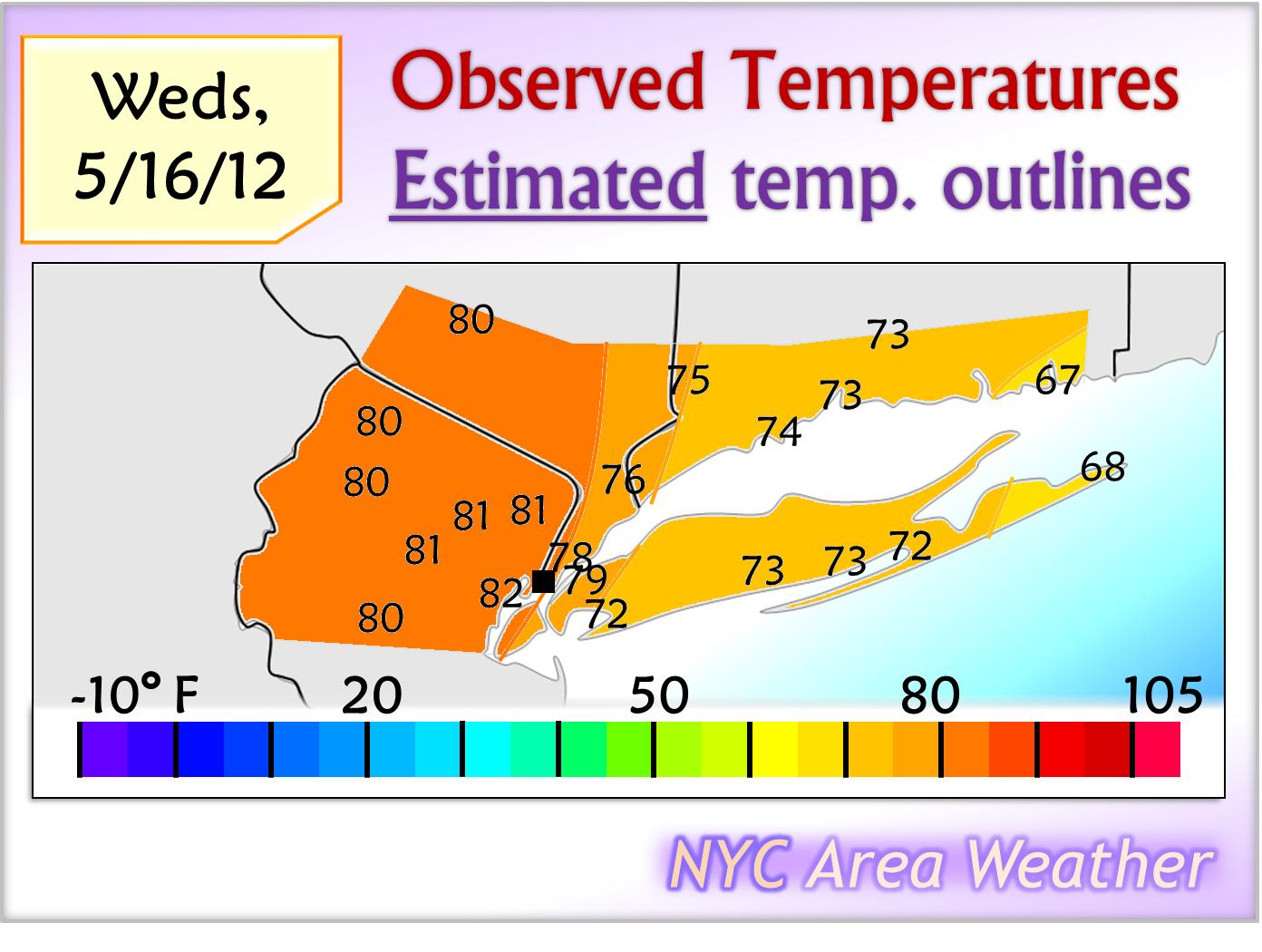 NYC Area Weather May 16 2012 Sunshine Lasts Through Sunday