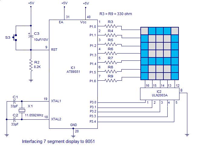 Using 74HC595 to drive 8 X 8 LED Matrix - Parallax