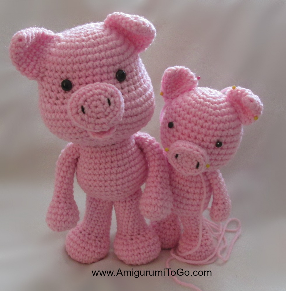 Amigurumi Pig Free Pattern : Big Piggy Little Pig New Pattern Coming ~ Amigurumi To Go